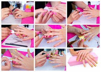 manicured woman fingernails
