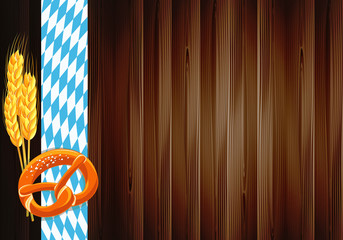 Oktoberfest celebration design with old wood texture