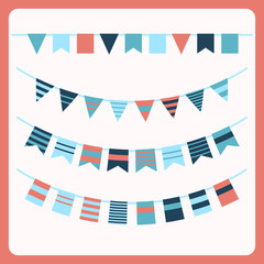 Set of bunting and garland