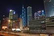 Hong Kong Central business district by night, China