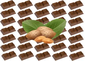 cioccolato con mandorle