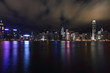 KOWLOON, HONGKONG -  Hong Kong Harbor Laser Show to Skyline