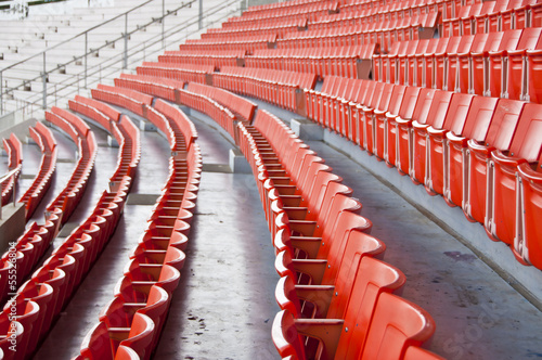 Fotobehang Stadion Seats on main stand of public national stadium.
