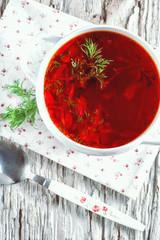 Red beetroot soup borsch