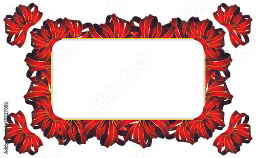 Rectangular frame with  bows