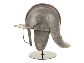 A 17th Century English Lobstertail Burgonet Helmet