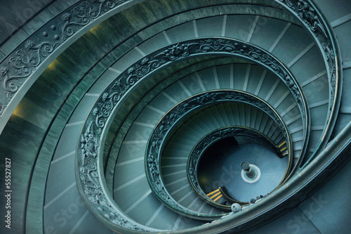 Poster Rome Spiral stairs in Vatican