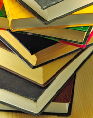 different books closeup