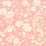 Seamless texture with different flowers