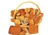 verschiedene Brotsorten im Korb
