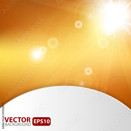 Autumn abstract background with sunburst flare