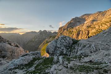 Evening sunshine in the mountains, Julian Alps, Slovenia