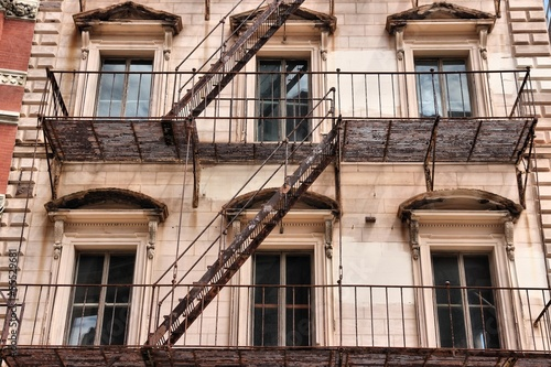 Fire escape in Providence, USA