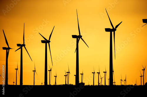 wind power silhouette