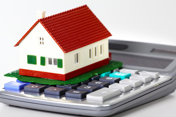 House and calculator.