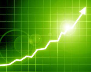 Arrow graph going up