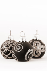 Christmas: Black and white Christmas ornaments