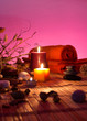 dried flowers, candles - chromoterapy - red