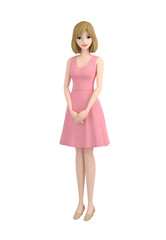 3d illustration character_usherette