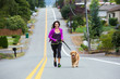 running uphill with a dog