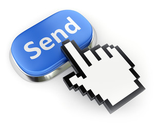 Blue Send button and hand cursor