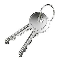 Two nickel door keys