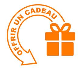 offrir un cadeau flèche orange