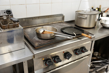 Typical kitchen of a restaurant