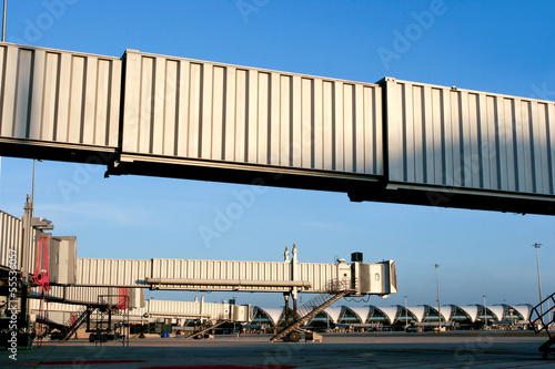 aerobridge at Suvarnabhumi airport, thailand