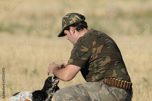 hunter training  dog