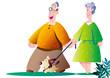 老人の生活_散歩