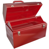 Empty Red Toolbox for Your Copy or Message Blank Copyspace