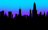 City Skyline Silhouette Black Blank Copy Space Your Message