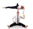 Concept of ??office multitasking. Businessmen