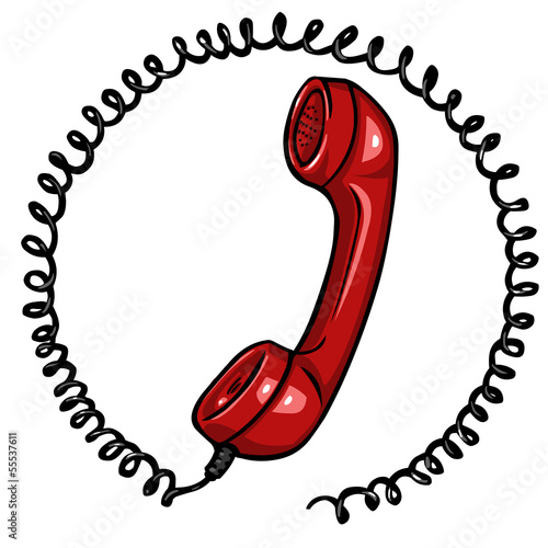 vector red  phone icon