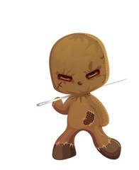 Cute Scary Rag Doll Monster eps10