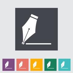 Nib flat icon