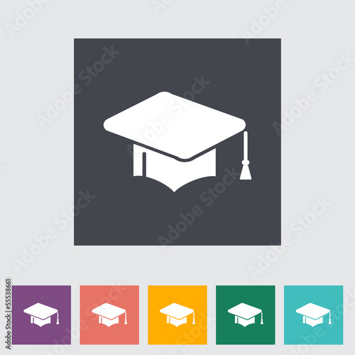 Education flat icon.
