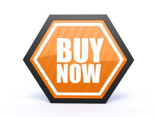 buy hexagon icon on white background