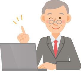 ビジネスマン シニア PC