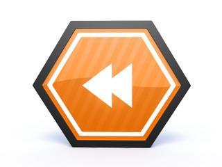 scroll hexagon icon on white background