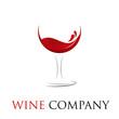 Vector Logo glass of wine