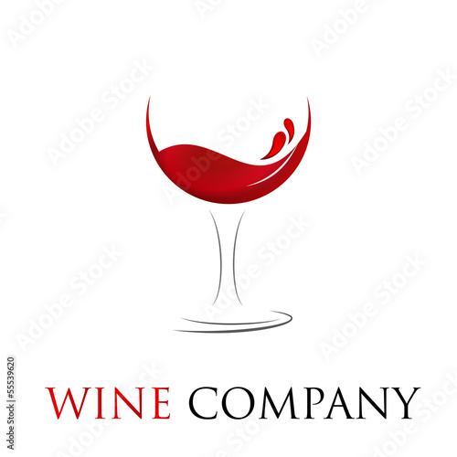 Vector Logo glass of wine