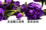 Coming soon with flowers
