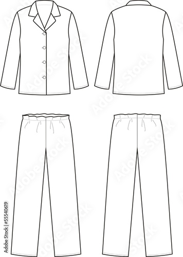 Vector illustration of sleepwear