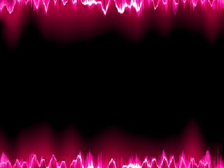 Sound waves oscillating on black. EPS 10