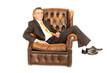 Geschäftsmann entspannt im Sessel