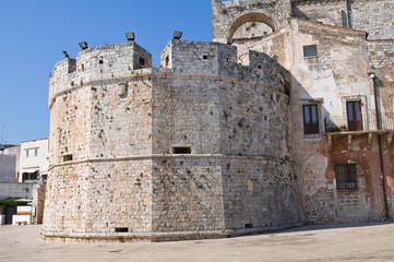 Castle of the Acquaviva of Aragon. Conversano. Puglia. Italy.
