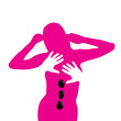 Vector Logo massage, woman in spa