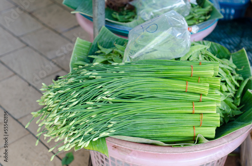 Chinese chive in local market, Thailand